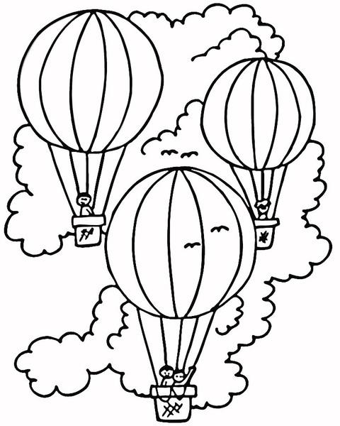Kolorowanka balony