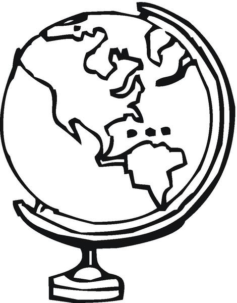 Kolorowanka globus