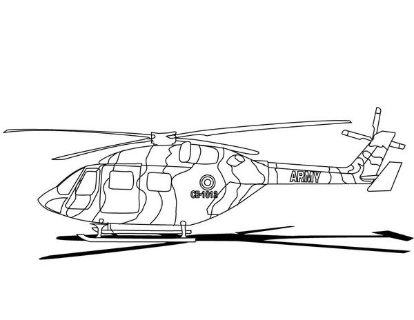Kolorowanka helikopter wojskowy