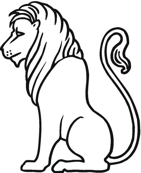 Kolorowanka lew
