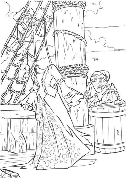 Kolorowanka Piraci z Karaibów