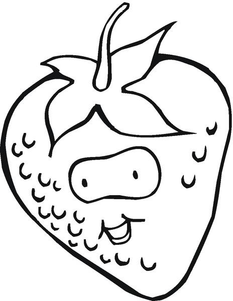 Kolorowanka truskawka