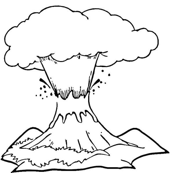 Kolorowanka wulkan