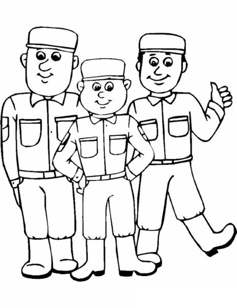 Kolorowanka żołnierze