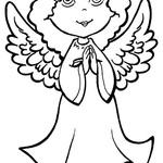 Kolorowanka Anioł