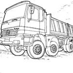 Kolorowanka ciężarówka