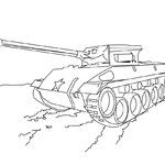 Kolorowanka czołg