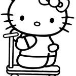 Kolorowanka dla dziewczyn Hello Kitty