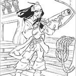 Kolorowanka Jack Sparrow