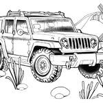 Kolorowanka jeep