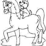 Kolorowanka koń