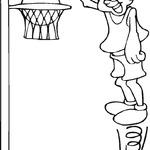 Kolorowanka koszykówka