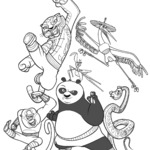Kolorowanka Kung Fu Panda