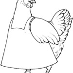 Kolorowanka kura