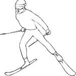 Kolorowanka narciarz