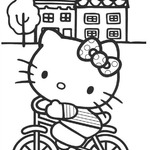 Kolorowanka o Hello Kitty