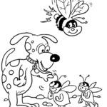 Kolorowanka pszczoly