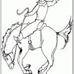 Kolorowanka rodeo