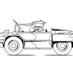 Kolorowanka samochód wojskowy