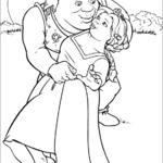Kolorowanka Shrek i Fiona