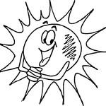 Kolorowanka słońce