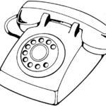 Kolorowanka telefon stacjonarny