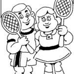 Kolorowanka tenis