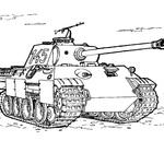 Kolorowanka wojskowy czołg