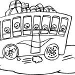 Kolorowanka z autobusem