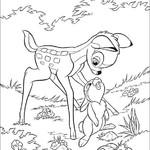 Kolorowanka z Bambi