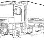 Kolorowanka z ciężarówką