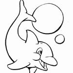 Kolorowanka z delfinem