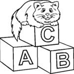 Kolorowanka z kotkiem