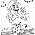 Kolorowanka z Mario