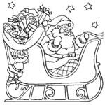 Kolorowanka z Mikołajem