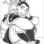 Kolorowanka z Mulan
