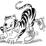 Kolorowanka z tygrysem
