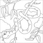 Kolorowanka z wężem