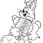 Kolorowanka z wielkanocnym królikiem