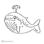 Kolorowanka z wielorybem