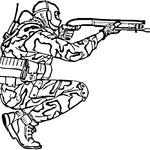 Kolorowanka z żołnierzem