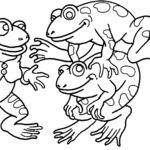 Kolorowanka żaby