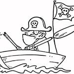 Kolorowanka ze statkiem piracki