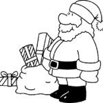 Kolorowanka ze Świętym Mikołajem