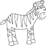 Kolorowanka zebra
