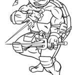 Kolorowanka żółw Ninja