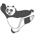 Malowanka Kung Fu Panda