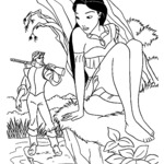 Malowanka Pocahontas